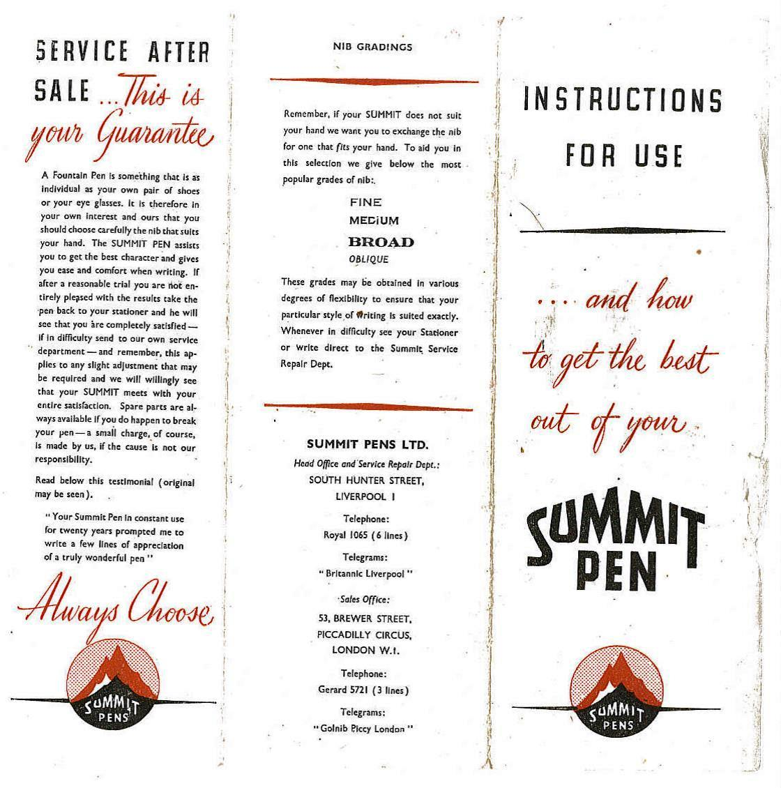 Summit - post WW2 instruction leaflet - page 1.jpg
