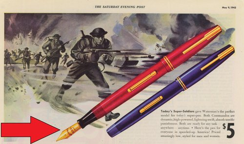 36. 1942-05-09. Waterman-Commando - nib detail.jpg