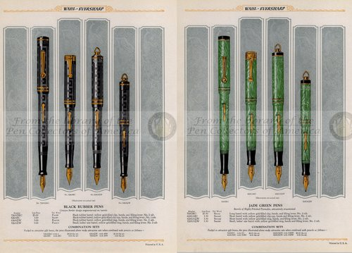 21. 1928. Wahl Eversharp Catalog - Black Rubber and Jade Green Pens.jpg