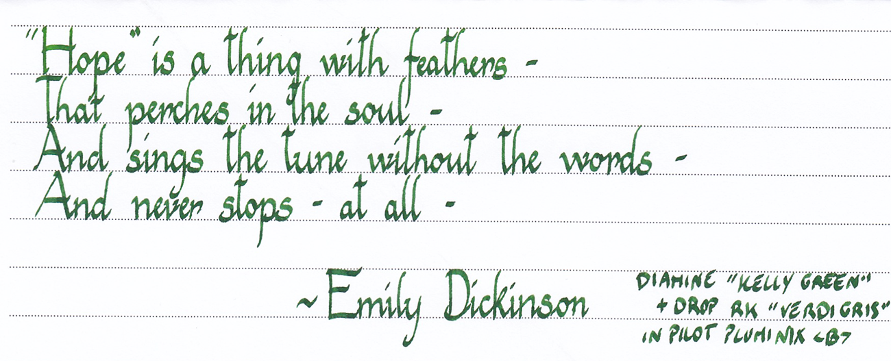 Diamine Kelly Green Hope Thing Feathers 01.png