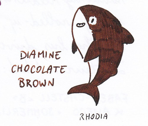 Diamine Chocolate Brown Doodle Fish.jpg