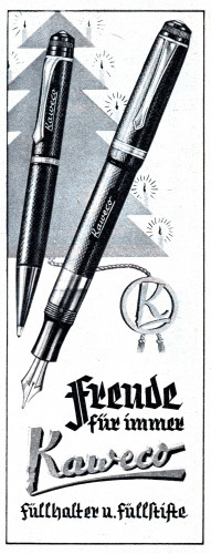 4. KAWECO - Fountain pen and pencil set. BERLINER ILLUSTRIRTE ZEITUNG - 1940-11-28. N.48, Anno 49°, pag. 1276.jpg
