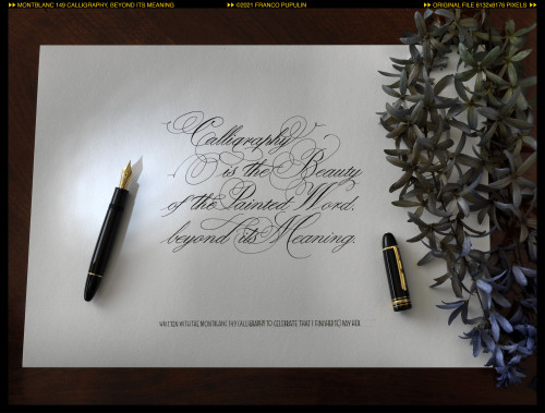 Montblanc 149 Calligraphy, Beyond its meaning ©FP.jpg